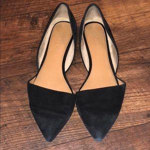 J. Crew D'orsay Black Suede Shoes Size 7.5